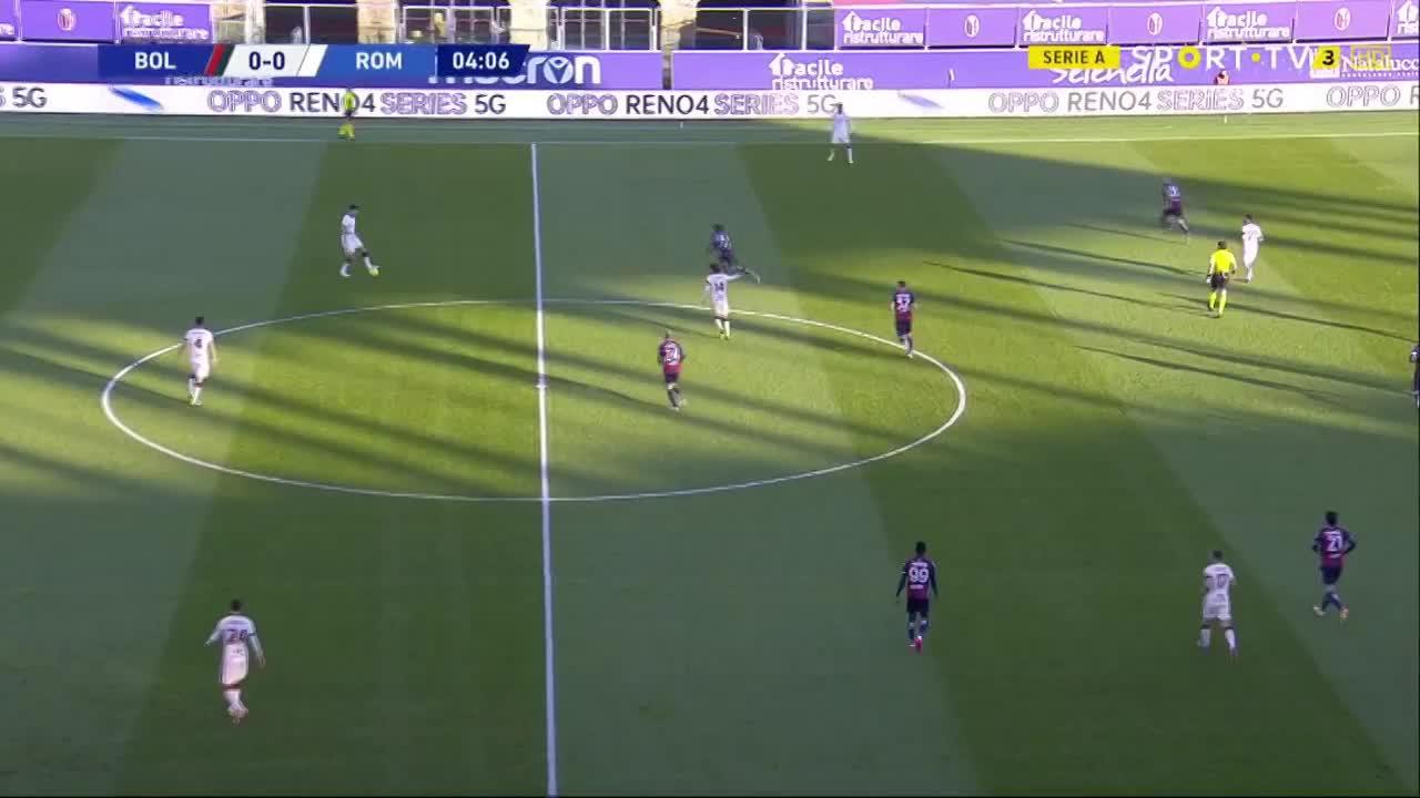 Serie A (11ª Jornada): Resumo Bologna 1-5 Roma