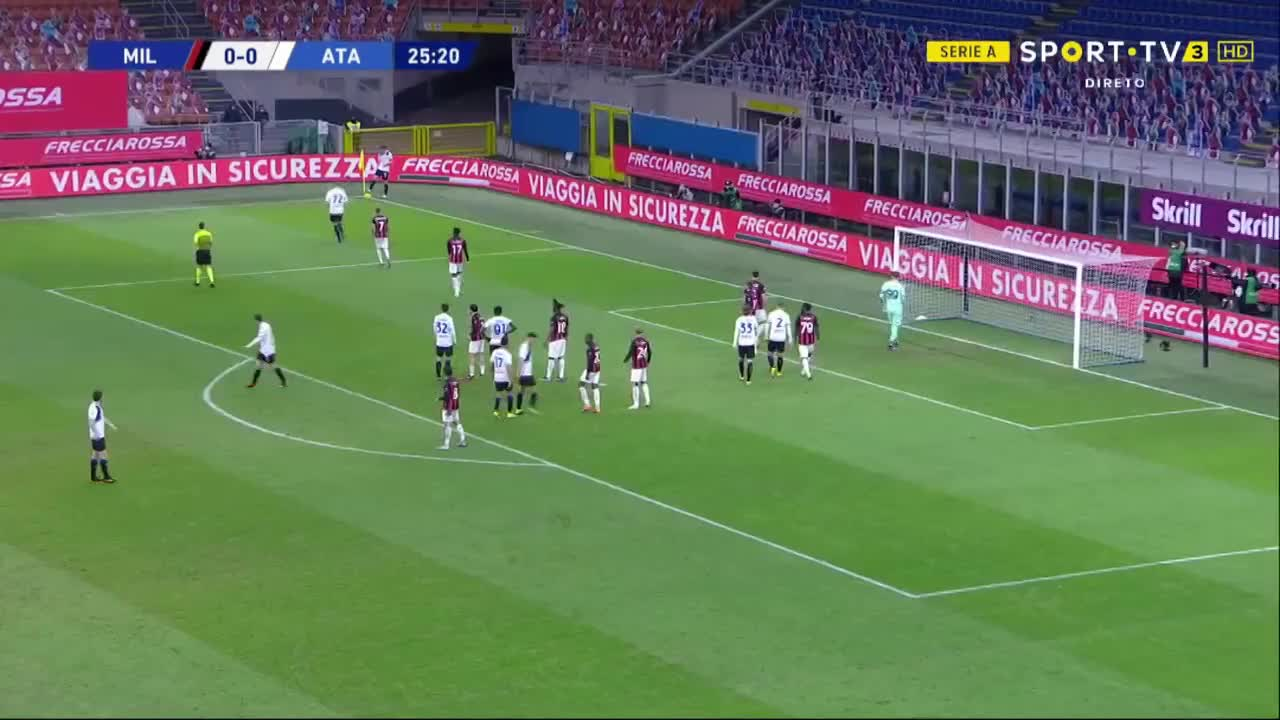 Serie A (19ª Jornada): Resumo Milan 0-3 Atalanta