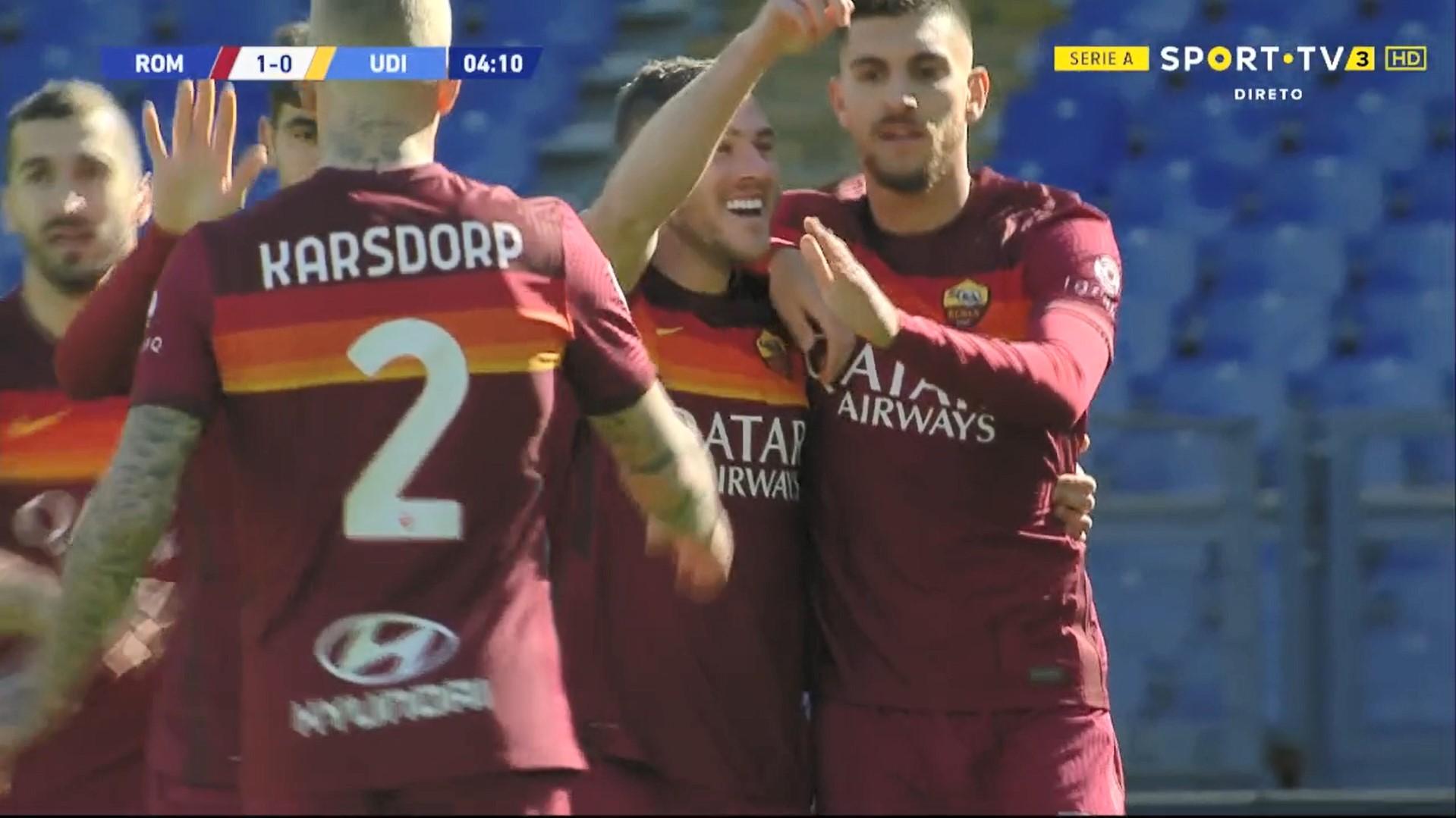 Serie A (22ª Jornada): Resumo Roma 3-0 Udinese