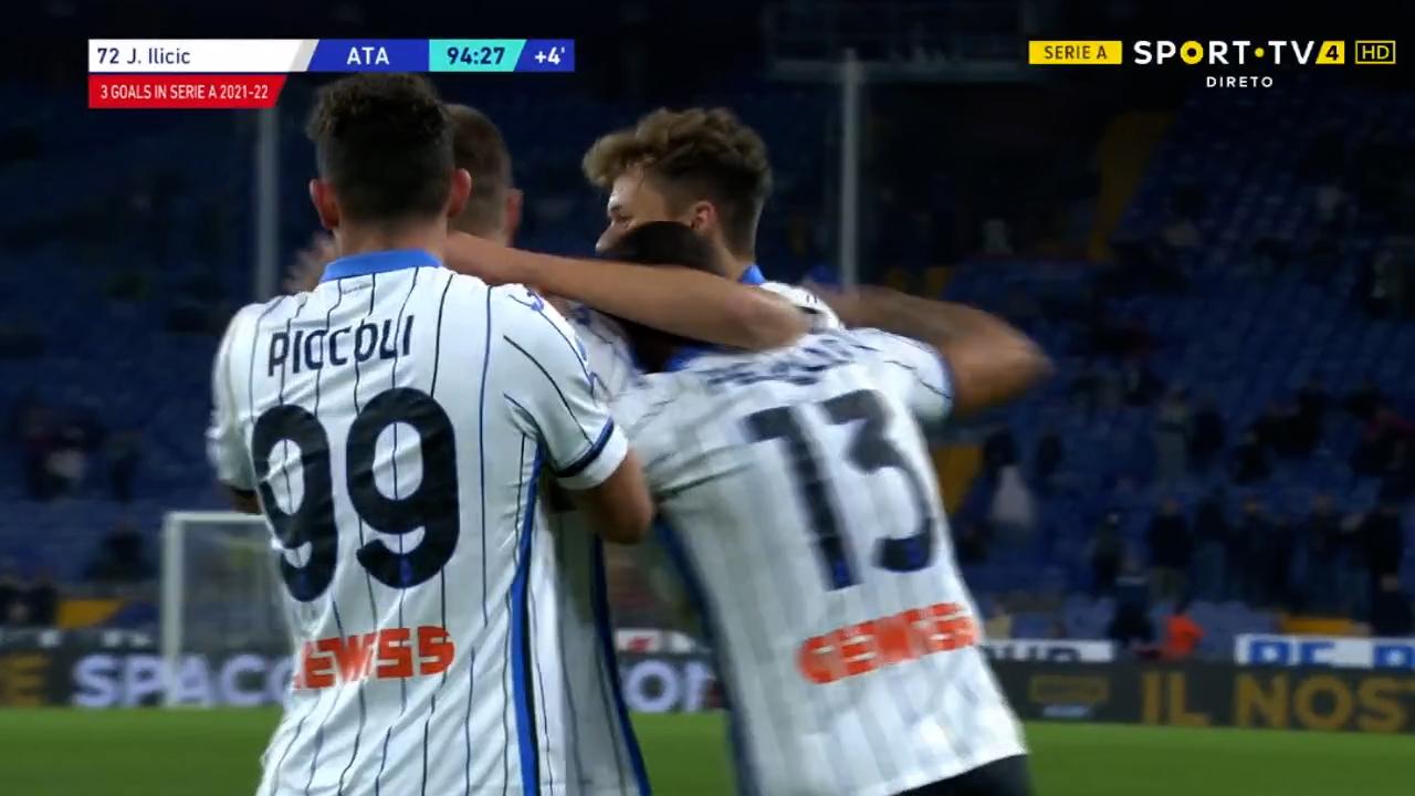 GOLO! Atalanta, J. Ili?i? aos 90'+5', Sampdoria 1-3 Atalanta