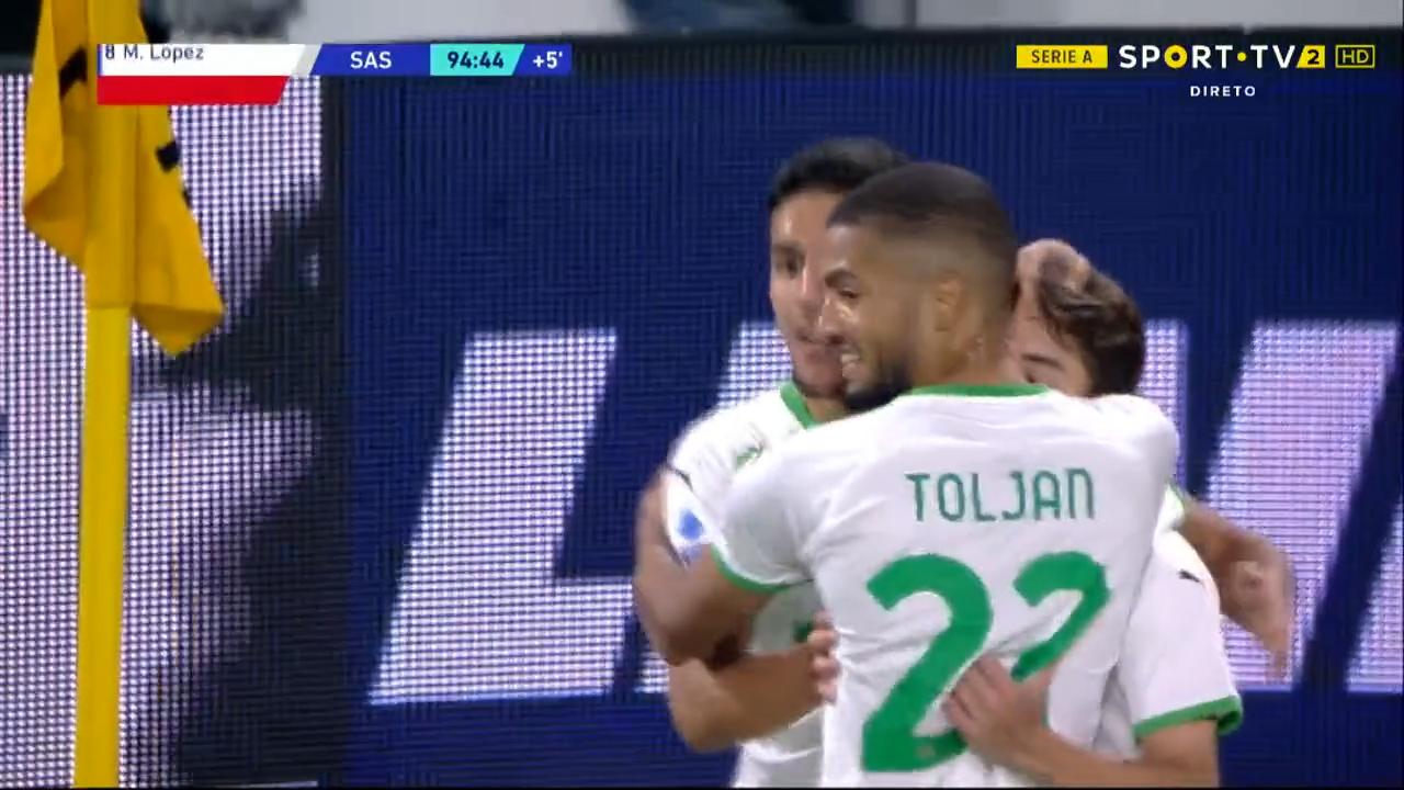 GOLO! Sassuolo, M. Lopez aos 90'+5', Juventus 1-2 Sassuolo