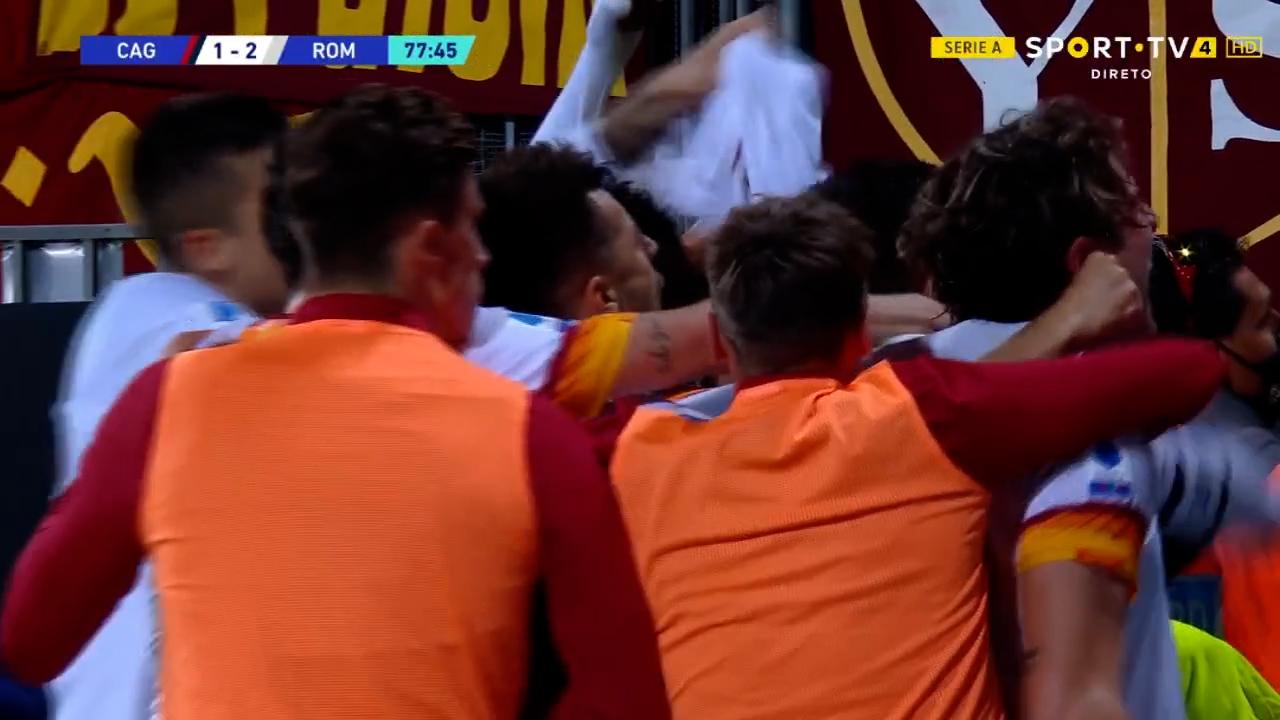 GOLO! Roma, L. Pellegrini aos 78', Cagliari 1-2 Roma