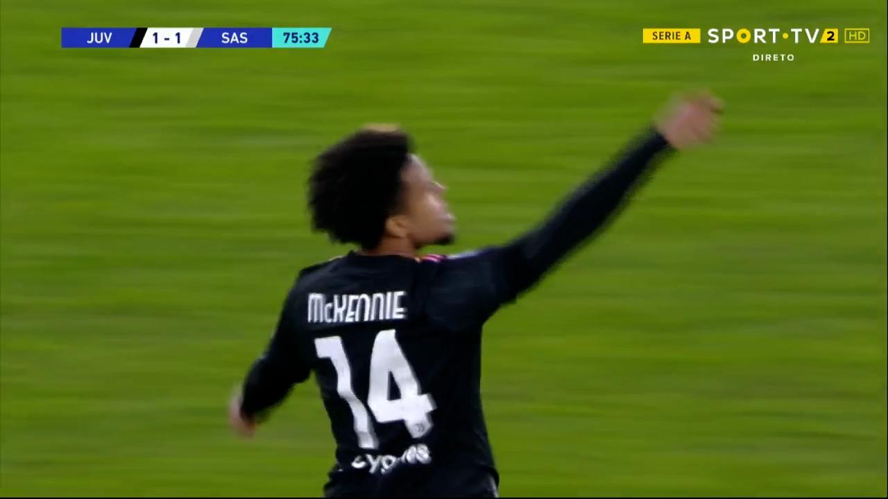 GOLO! Juventus, W. McKennie aos 76', Juventus 1-1 Sassuolo