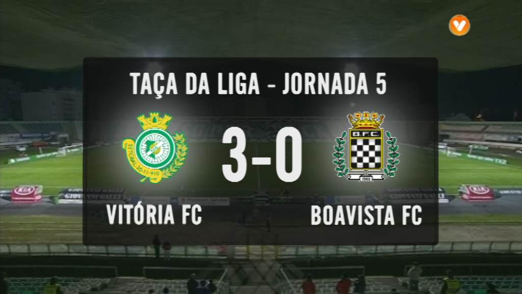Taça da Liga (Fase 3 - Jornada 5): Resumo Vitória FC 3-0 Boavista FC