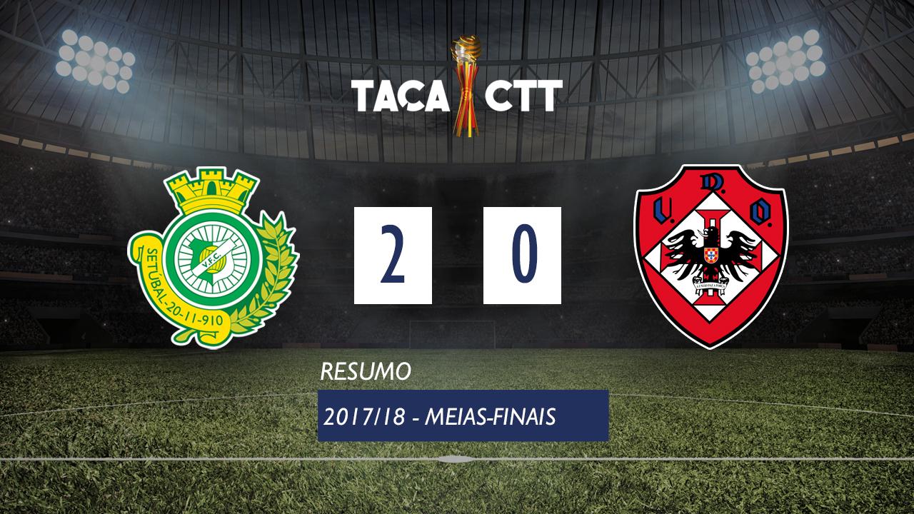 Taça CTT (Meias-Finais): Resumo Vitória FC 2-0 UD Oliveirense