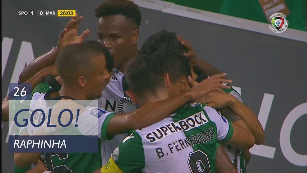 GOLO! Sporting CP, Raphinha aos 26', Sporting CP 1-0 Marítimo M.