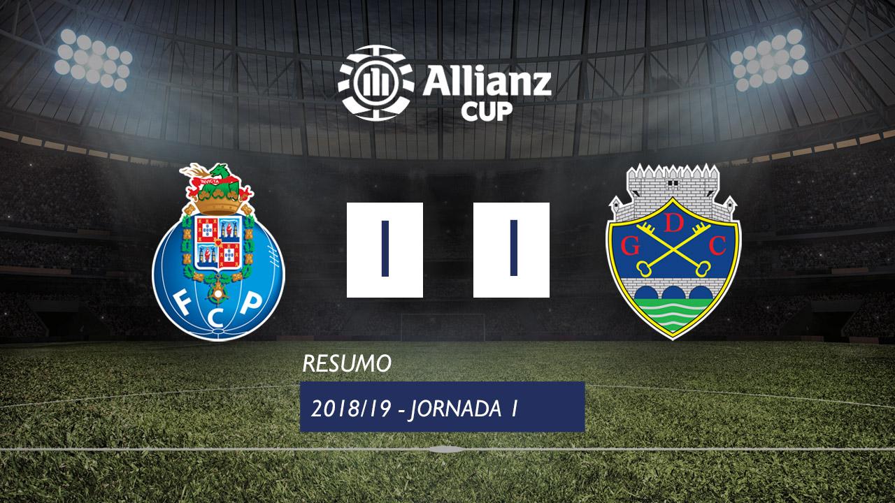 Allianz Cup (Fase 3 - Jornada 1): Resumo FC Porto 1-1 GD Chaves