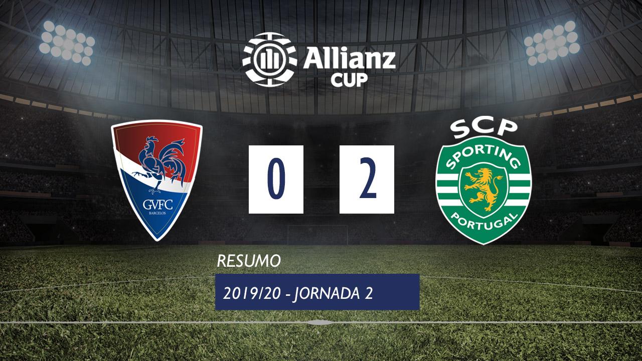 Allianz Cup (Fase 3 - Jornada 2): Resumo Gil Vicente FC 0-2 Sporting CP