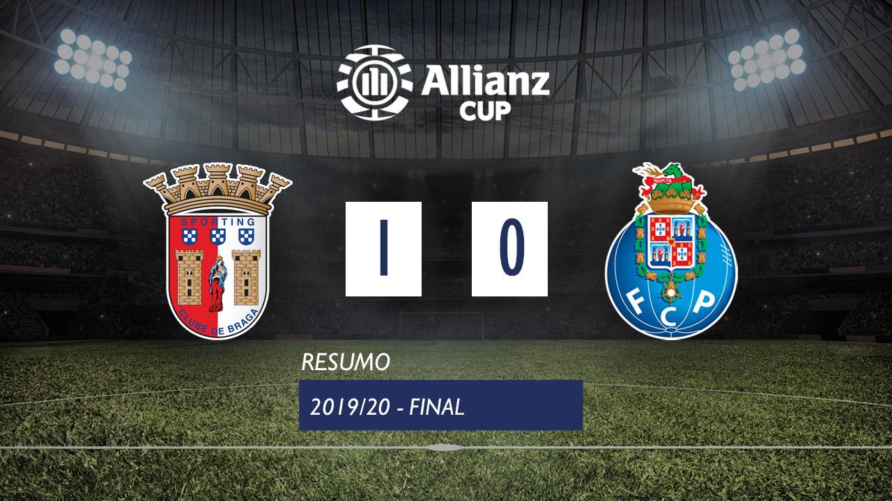 Allianz Cup (Final): Resumo SC Braga 1-0 FC Porto