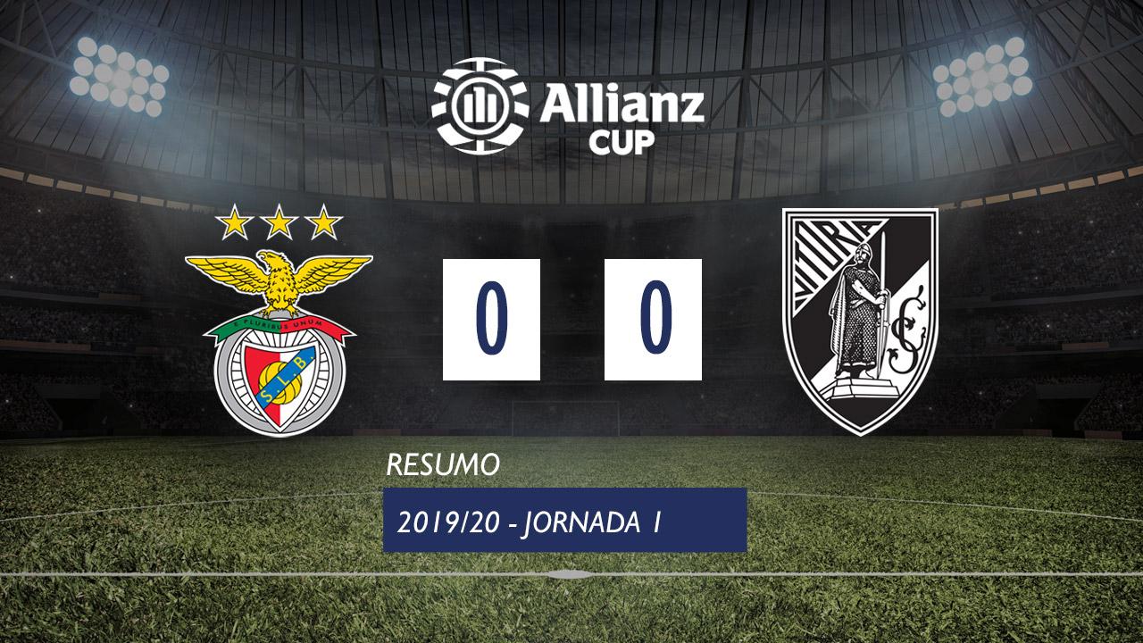 Allianz Cup (Fase 3 - Jornada 1): Resumo SL Benfica 0-0 Vitória SC