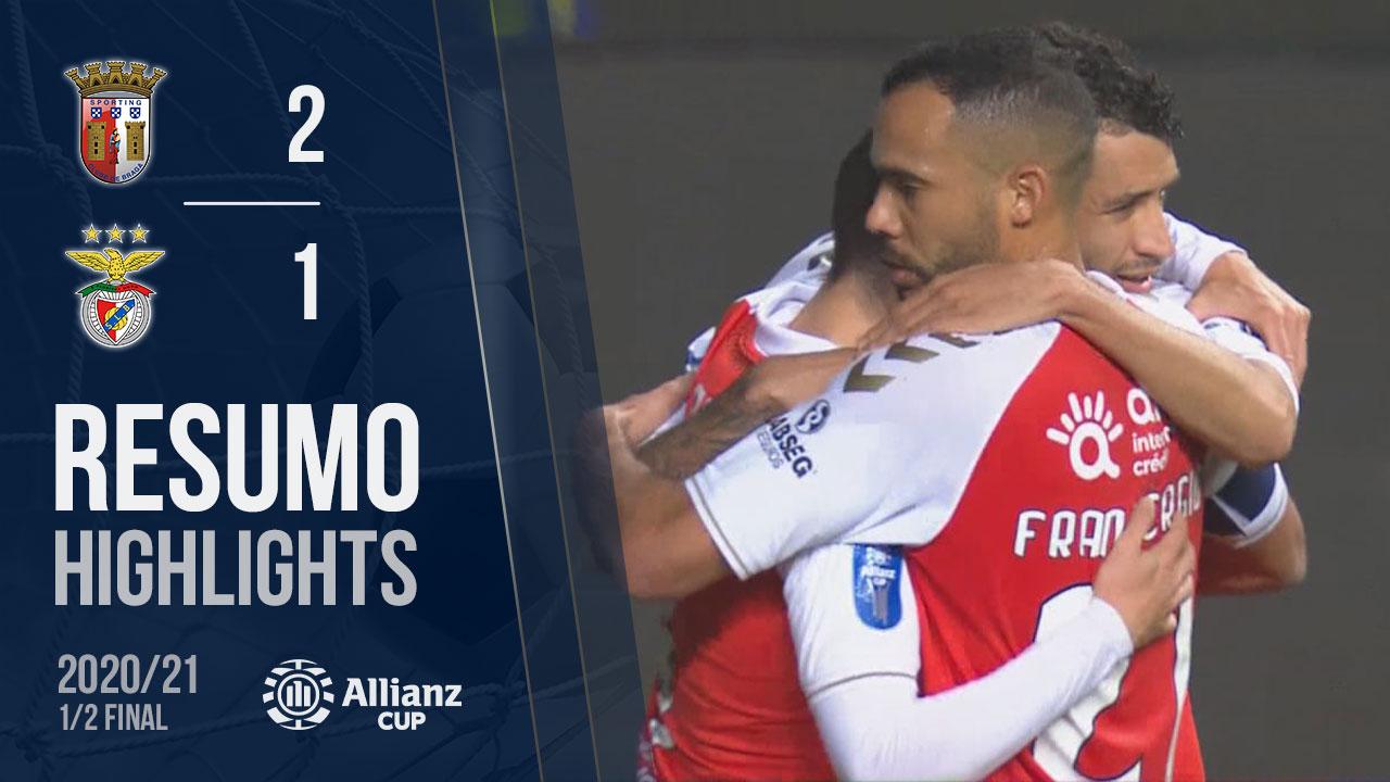 Allianz Cup (Meias-Finais): Resumo SC Braga 2-1 SL Benfica