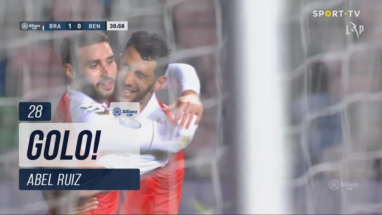 GOLO! SC Braga, Abel Ruiz aos 28', SC Braga 1-0 SL...