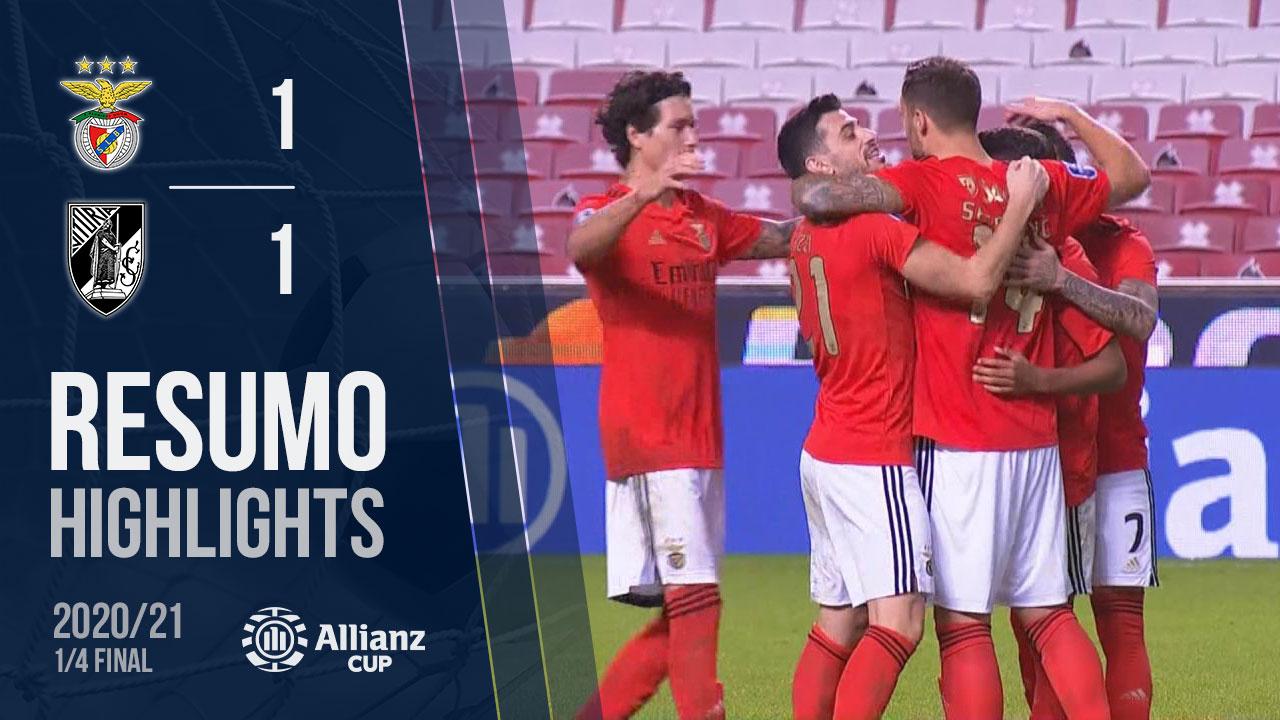 Allianz Cup (Quartos de Final): Resumo SL Benfica 5-2 Vitória SC