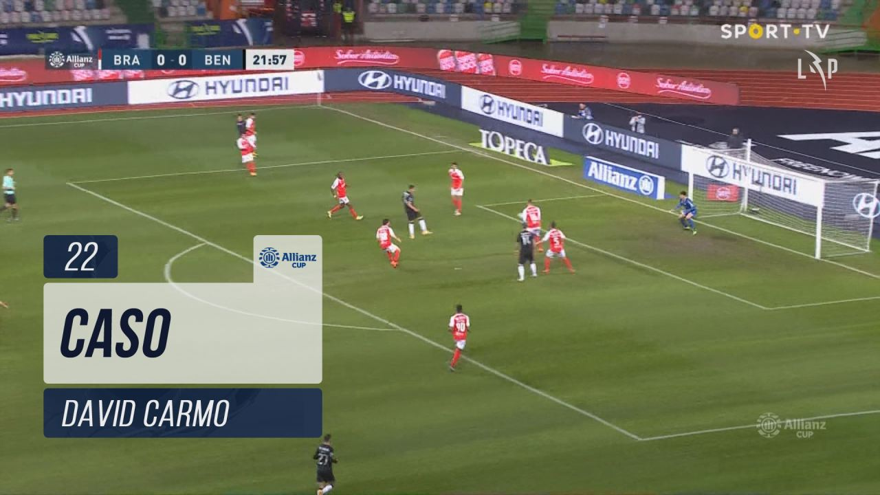 SC Braga, Caso, David Carmo aos 22'