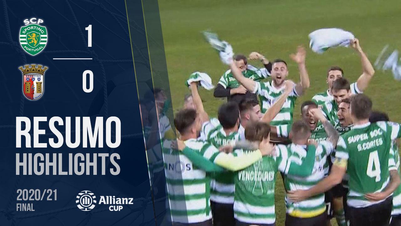 Allianz Cup (Final): Resumo Sporting CP 1-0 SC Braga