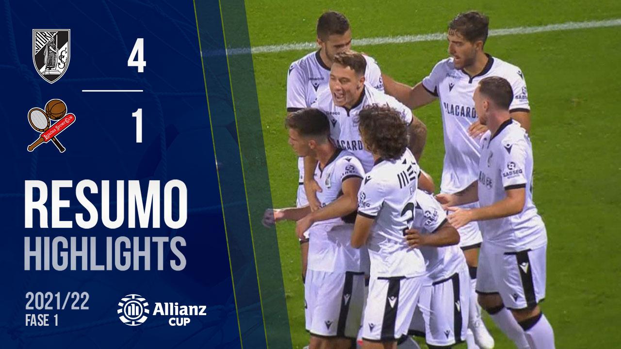 Allianz Cup (1ª Fase): Resumo Vitória SC 4-1 Leixões SC