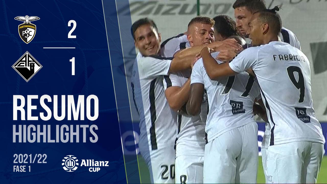 Allianz Cup (1ª Fase): Resumo Portimonense 2-1 A. Académica