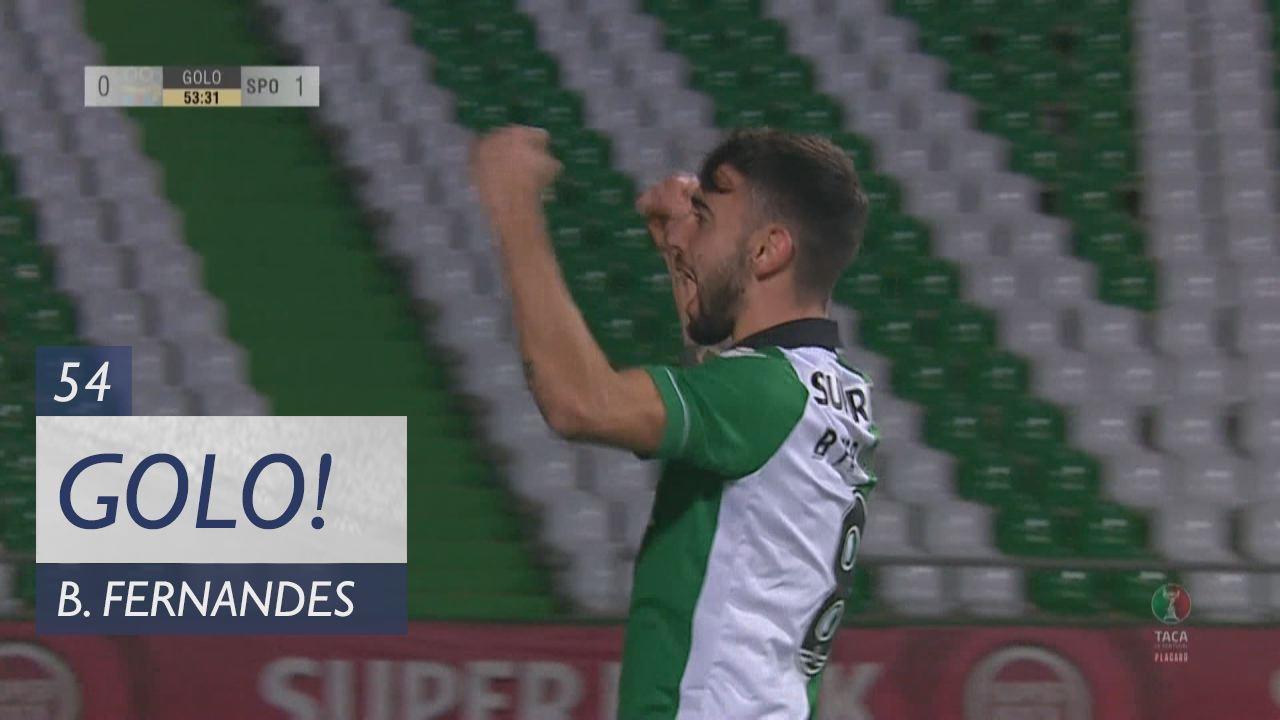 Sporting CP, Bruno Fernandes aos 54', Cova Piedade 0-1 Sporting CP