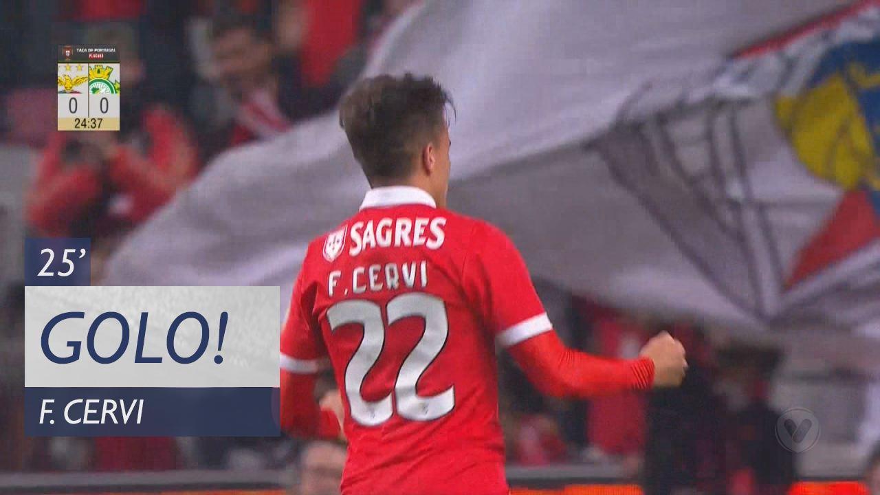 SL Benfica, F. Cervi aos 25', SL Benfica 1-0 Vitória FC