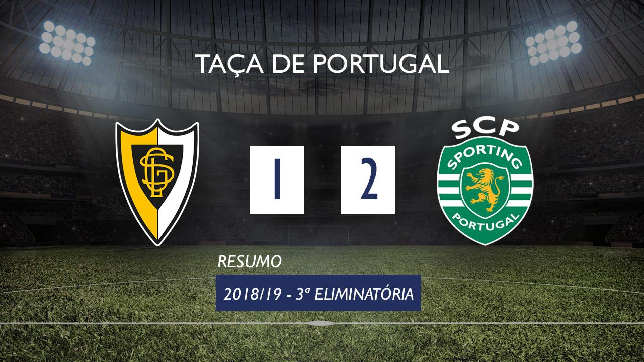 Taça de Portugal (3ª Eliminatória): Resumo Loures 1-2 Sporting CP