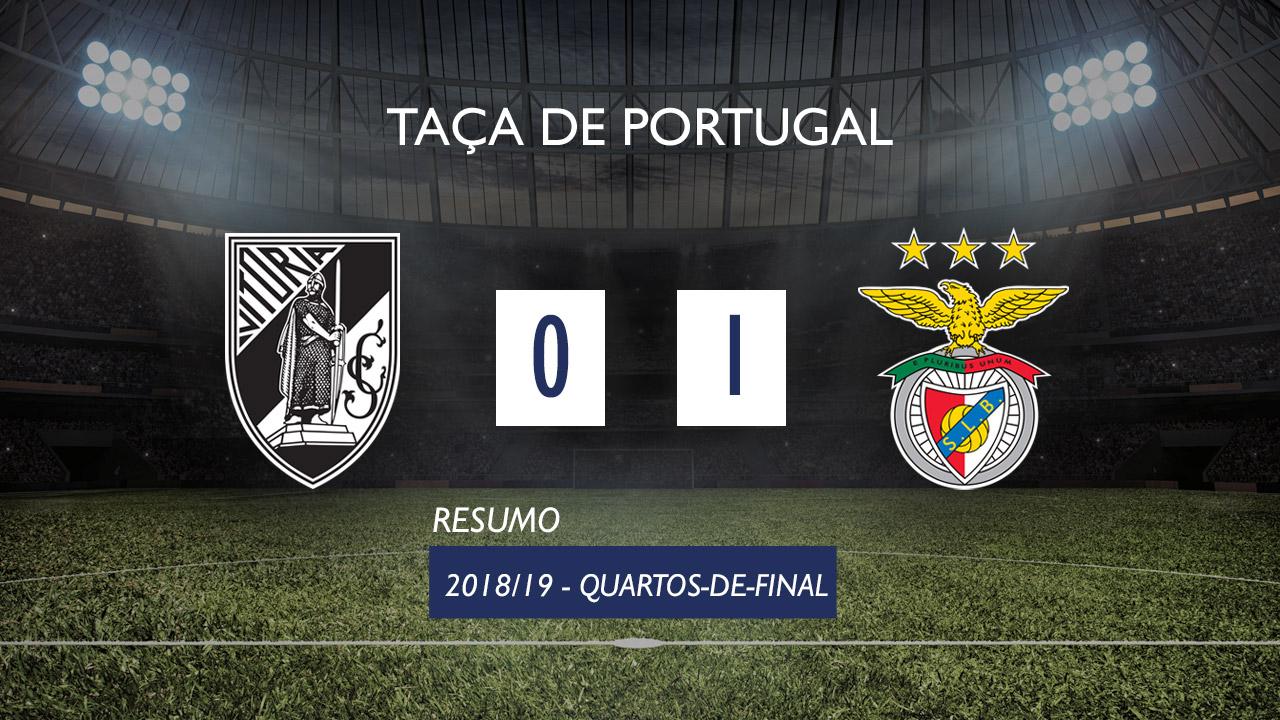 Taça de Portugal (Quartos de Final)  Resumo Vitória SC 0-1 SL Benfica fc613f663381a