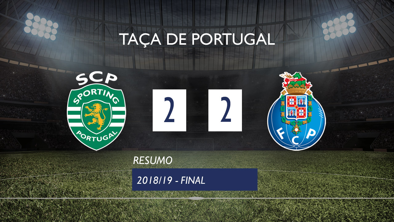 Taça de Portugal (Final): Resumo Sporting CP 2-2 FC Porto