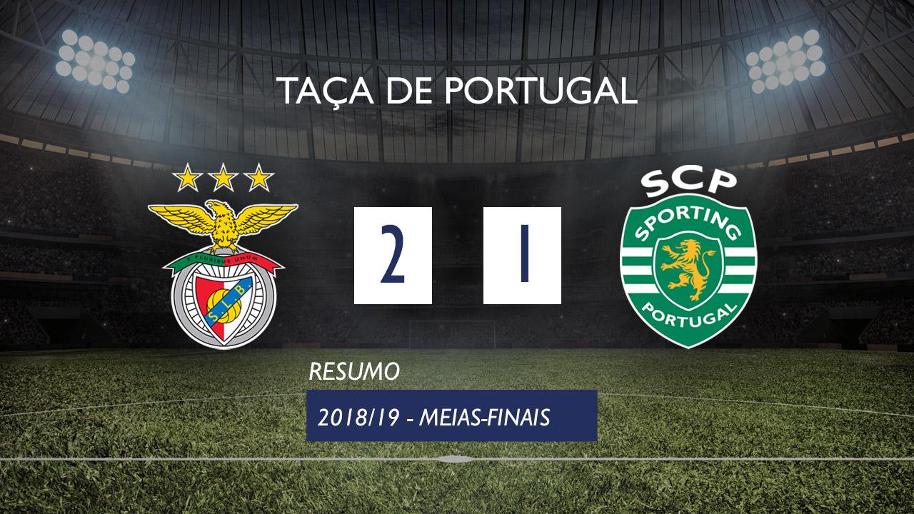 Taça de Portugal (Meias-Finais): Resumo SL Benfica 2-1 Sporting CP