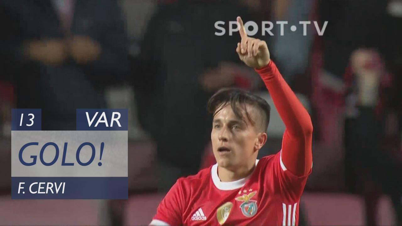 GOLO! SL Benfica, F. Cervi aos 13', SL Benfica 1-1...