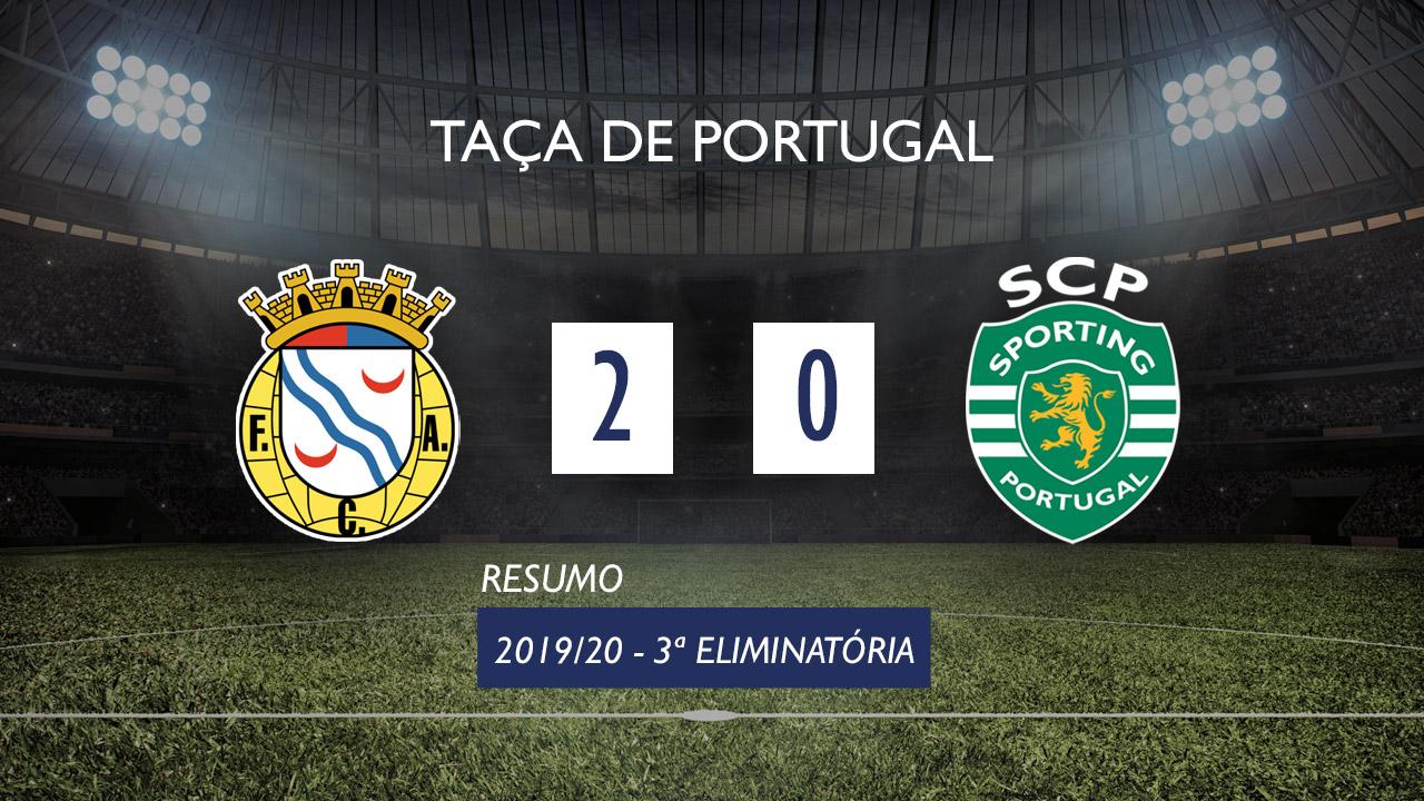 Taça de Portugal (3ª Eliminatória): Resumo Alverca 2-0 Sporting CP