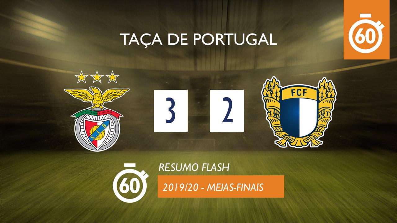 Taça de Portugal (Meias-Finais): Resumo Flash SL Benfica 3-2 FC Famalicão