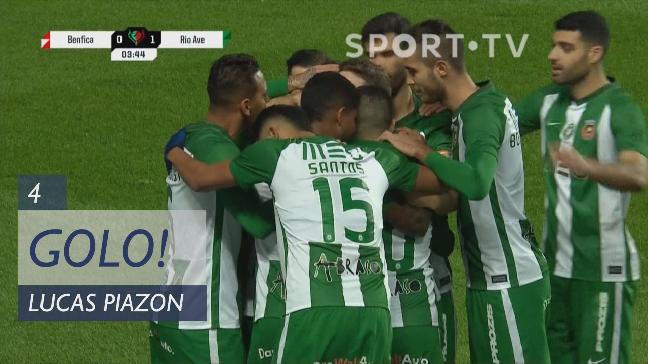 GOLO! Rio Ave FC, Lucas Piazon aos 4', SL Benfica ...