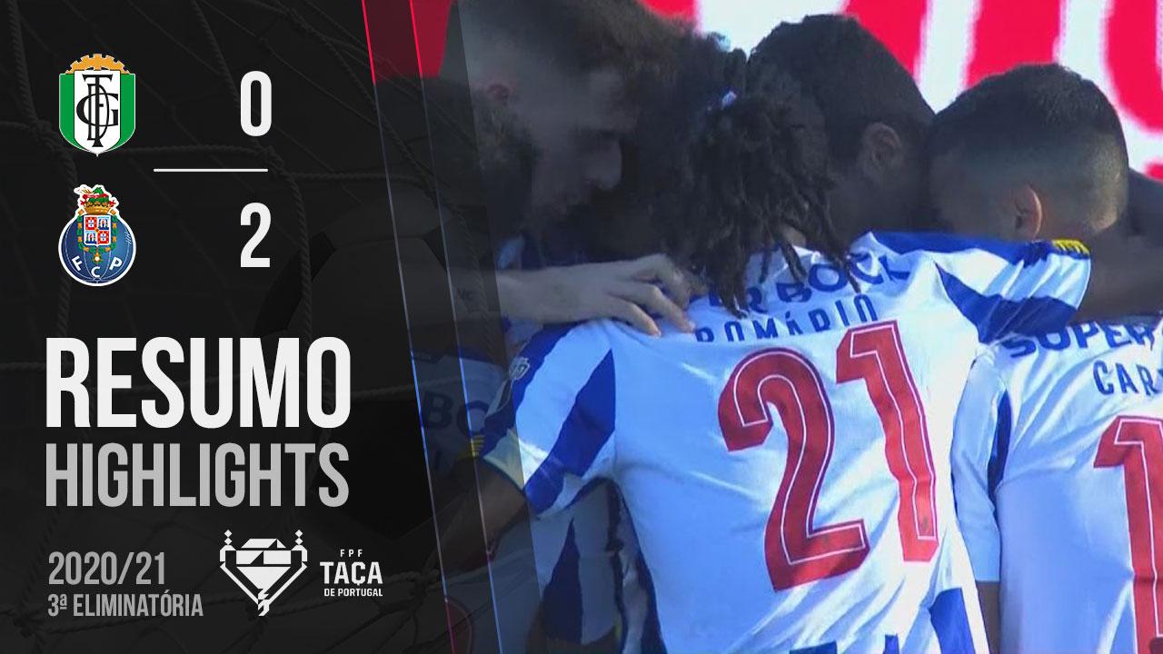 Taça Placard (3ª Eliminatória): Resumo Fabril Barreiro 0-2 FC Porto