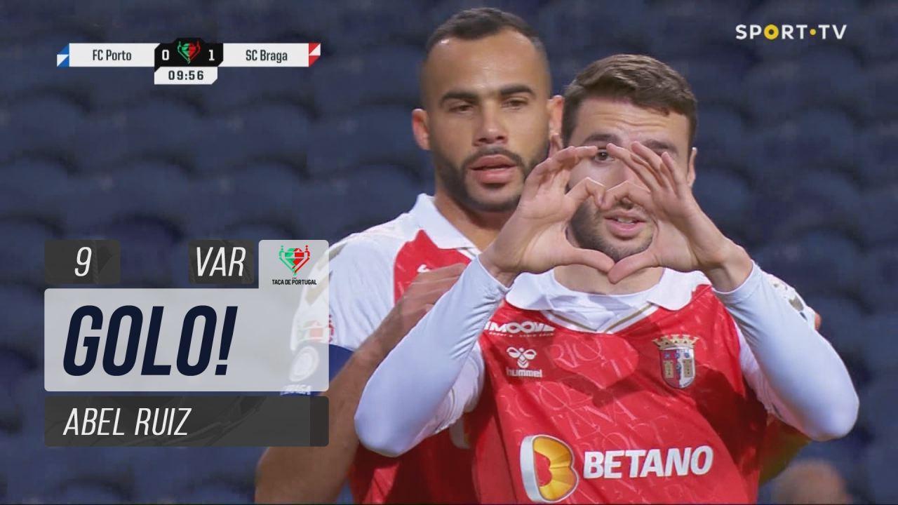 GOLO! SC Braga, Abel Ruiz aos 9', FC Porto 0-1 SC Braga