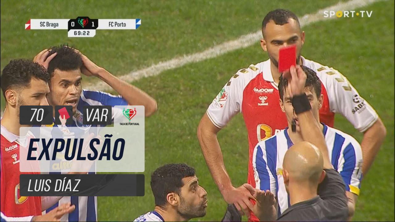 FC Porto, Expulsão, Luis Díaz aos 70'