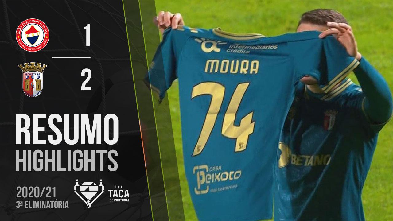 Taça Placard (3ª Eliminatória): Resumo Trofense 1-2 SC Braga