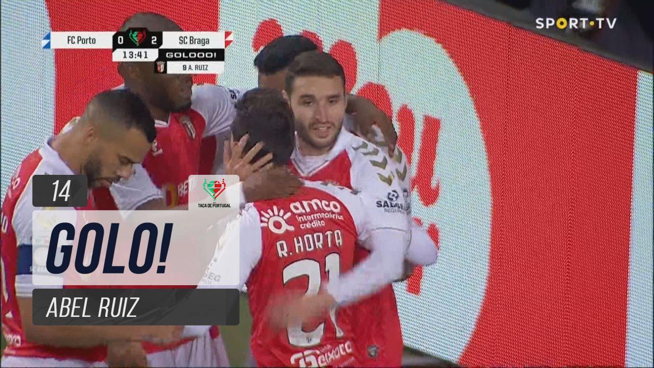 GOLO! SC Braga, Abel Ruiz aos 14', FC Porto 0-2 SC...