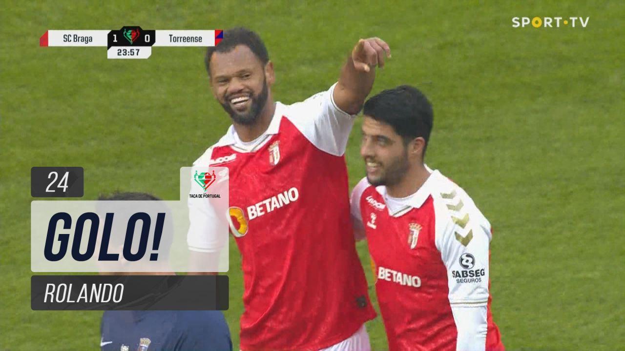 GOLO! SC Braga, Rolando aos 24', SC Braga 1-0 Torreense