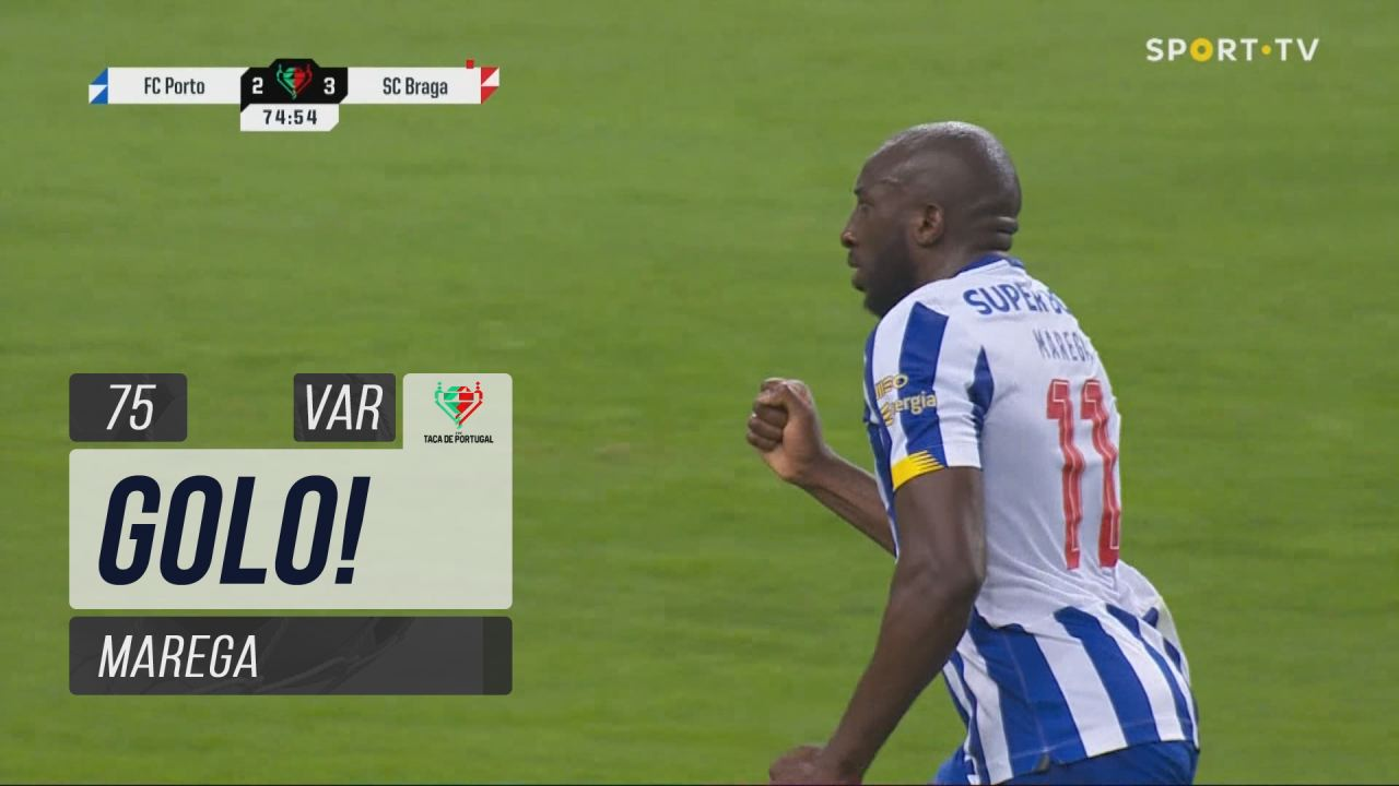 GOLO! FC Porto, Marega aos 75', FC Porto 2-3 SC Braga