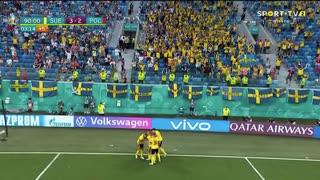 GOLO! Suécia, V. Claesson aos 90'+3', Suécia 3-2 Polónia
