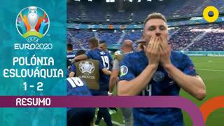 UEFA Euro (Fase de Grupos - Jornada 1): Resumo Polónia 1-2 Eslováquia