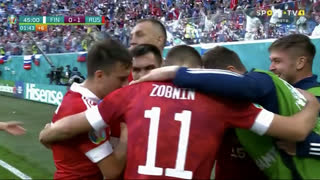 GOLO! Rússia, A. Miranchuk aos 45'+2', Finlândia 0-1 Rússia