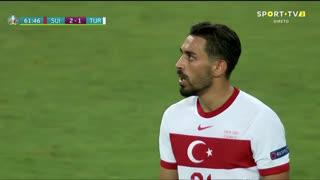 GOLO! Turquia, I. Kahveci aos 62', Suíça 2-1 Turquia