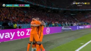 GOLO! Países Baixos, D. Dumfries aos 67', Países Baixos 2-0 Áustria
