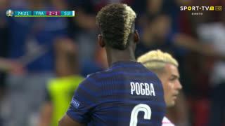 GOLO! França, P. Pogba aos 75', França 3-1 Suíça