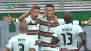 GOLO! Portugal, Cristiano Ronaldo aos 90'+2', Hungria 0-3 Portugal