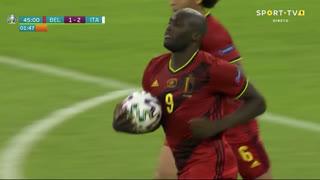 GOLO! Bélgica, R. Lukaku aos 45'+2', Bélgica 1-2 Itália