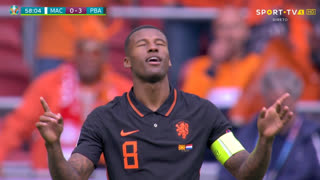 GOLO! Países Baixos, G. Wijnaldum aos 58', Macedónia do Norte 0-3 Países Baixos