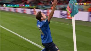 GOLO! Itália, F. Chiesa aos 95', Itália 1-0 Áustria