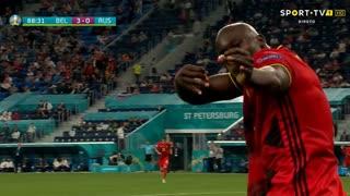 GOLO! Bélgica, R. Lukaku aos 88', Bélgica 3-0 Rússia