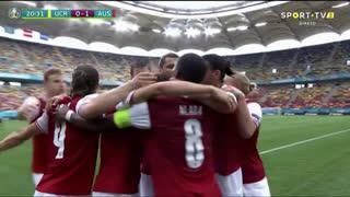 GOLO! Áustria, C. Baumgartner aos 21', Ucrânia 0-1 Áustria